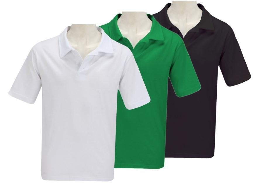 Camisa Polo Lisa Malha Piquet Qualidade Otima Kit Com 3 Unid - R ... fe594edef0475