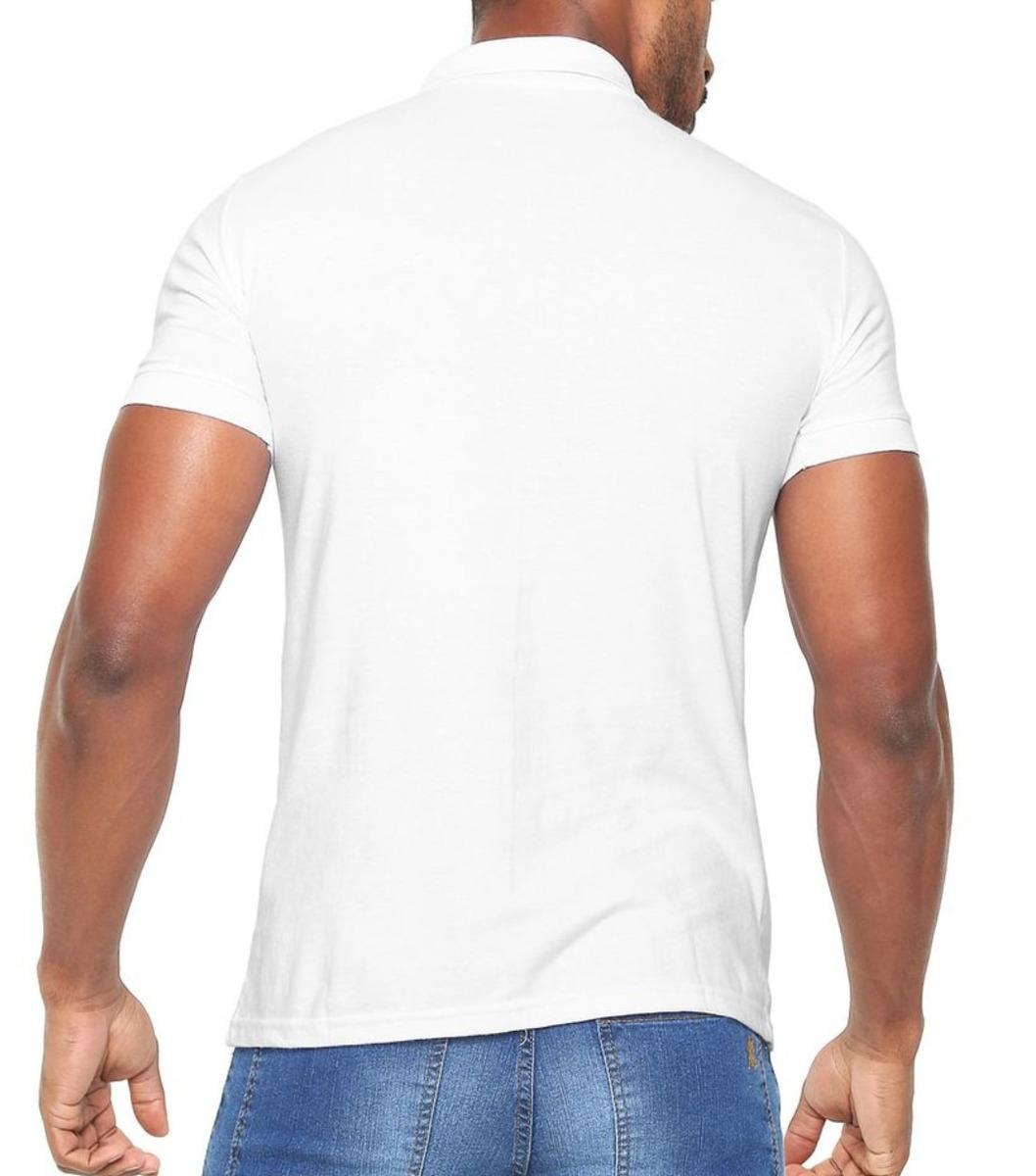 0077bf967abaa camisa polo lisa tam g branca lançamento 2019 polo wear. Carregando zoom.