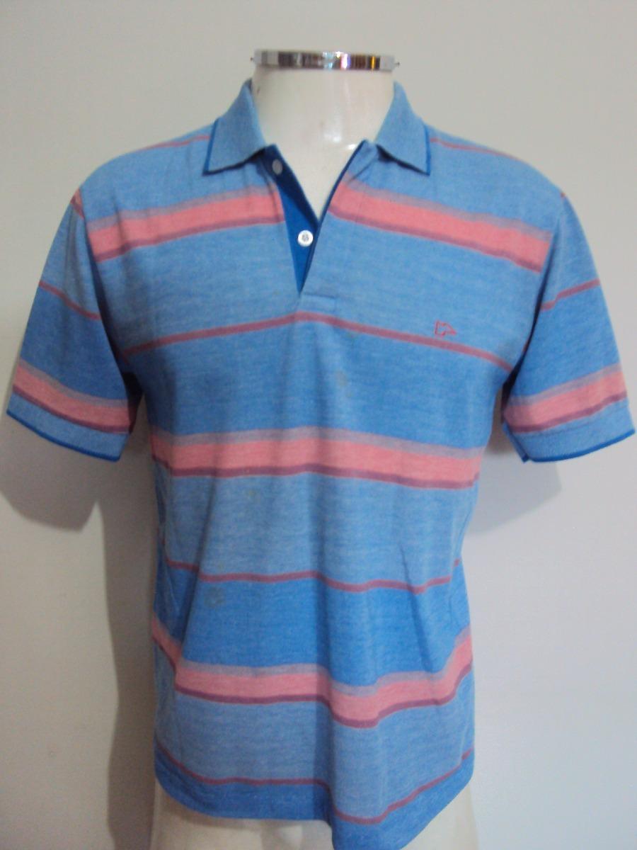 e7bdafe71c04d camisa polo listrada azul e rosa masculina pool tamanho m. Carregando zoom.