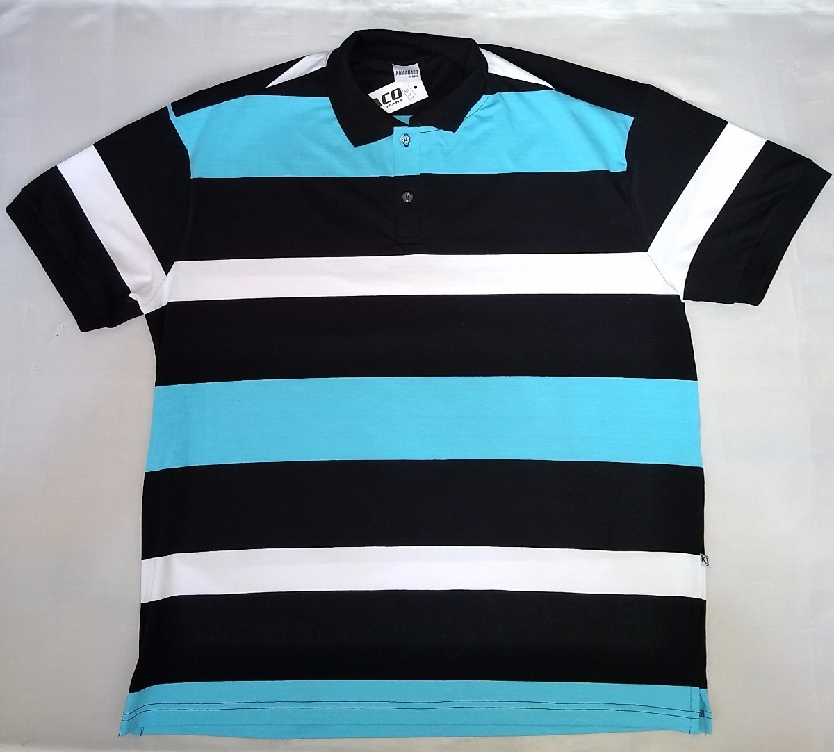 camisa polo listrada plus size azul. Carregando zoom. 1dad75edf8270