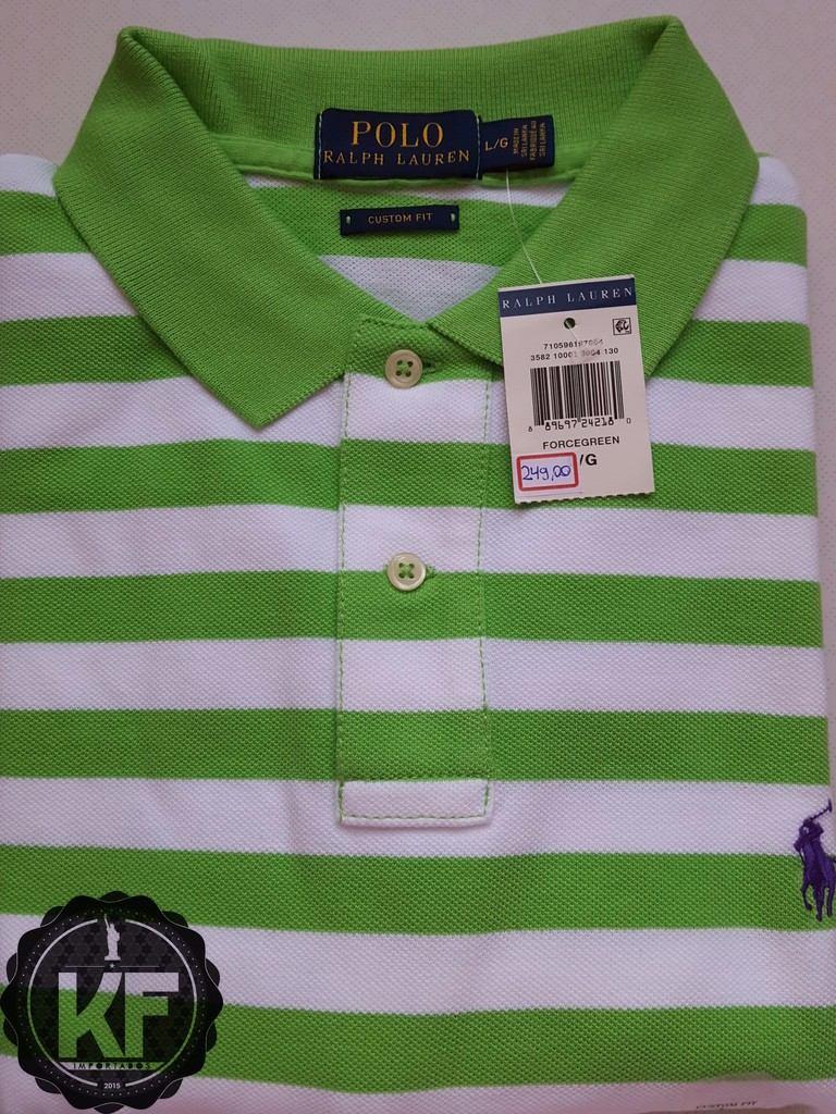 camisa polo listrada ralph lauren original - custom fit. Carregando zoom. 4680dc865d4