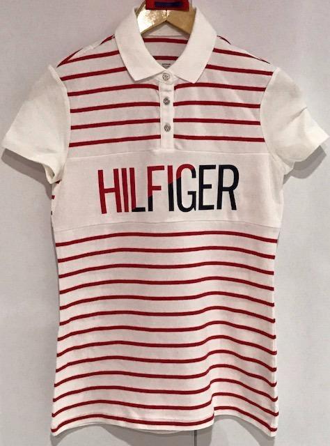 43a3b111dd5d8 Camisa Polo Listrada Tommy Hilfiger Original Feminina - R  140