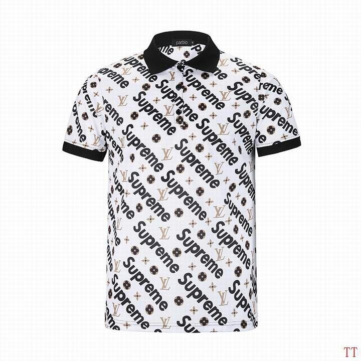 de1a94d8b Camisa Polo Louis Vuitton (estampada Lv) - R  169