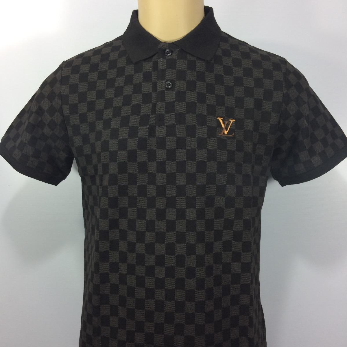 30d571f9b camisa polo louis vuitton xadrez clássica com etiquetas. Carregando zoom.