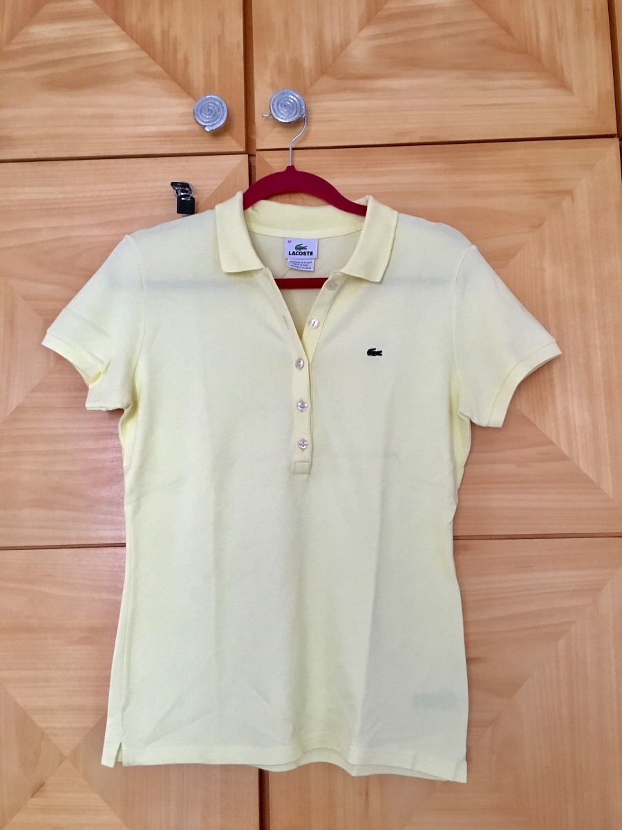 7f39768cac2 camisa pólo manga curta lacoste amarela. Carregando zoom.