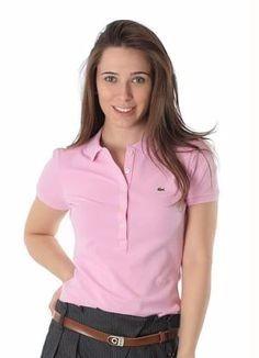 3f8cc654cfa Camisa Polo Manga Curta Lacoste Feminina - R  59