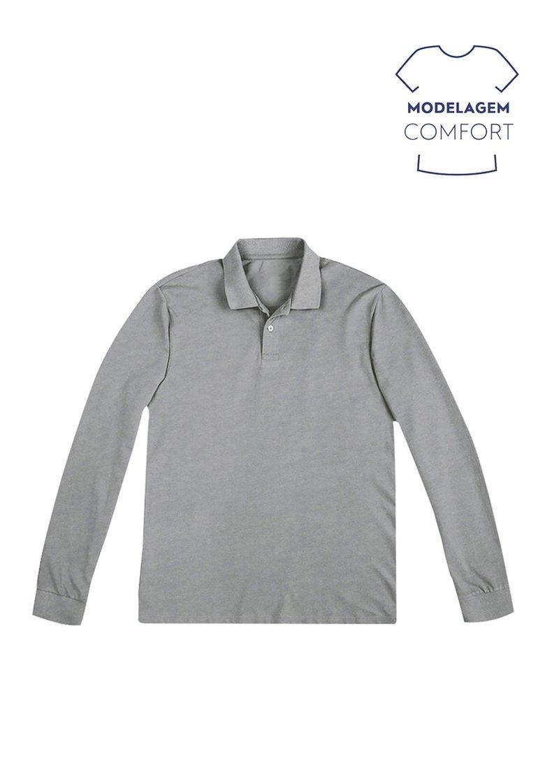 camisa polo manga longa básica mescla hering original. Carregando zoom. 839f6e91405fd