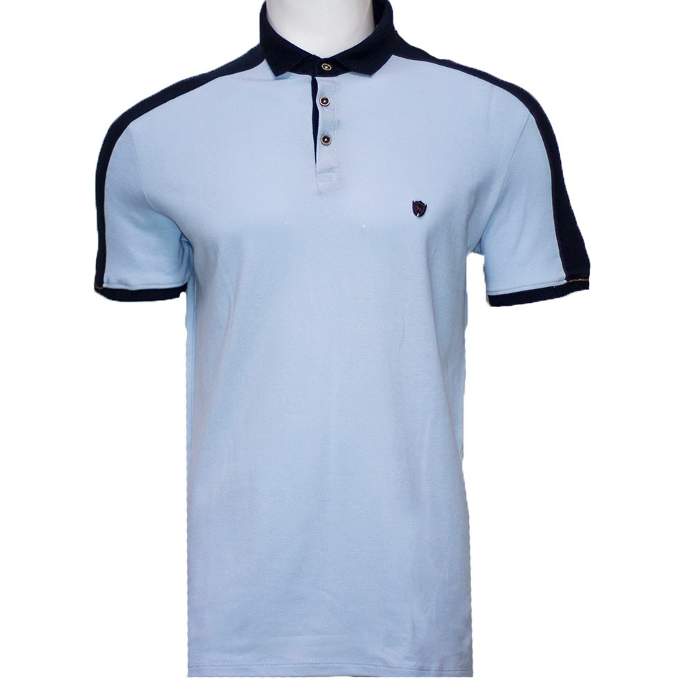 150d6b280e16f camisa polo masculina acostamento azul céu. Carregando zoom.