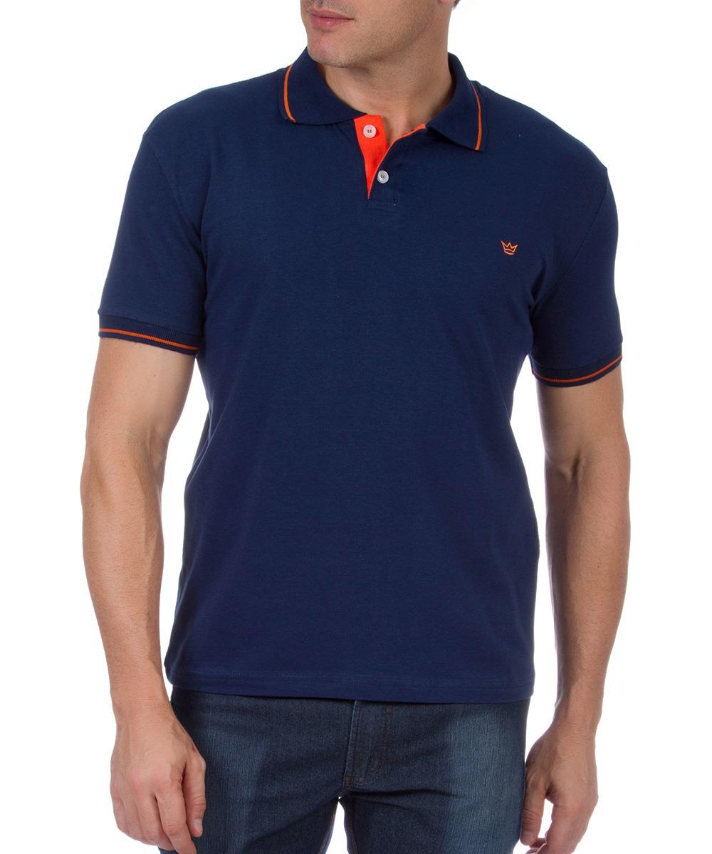 camisa polo masculina azul lisa com detalhe colombo. Carregando zoom. cc400f57e1ec6