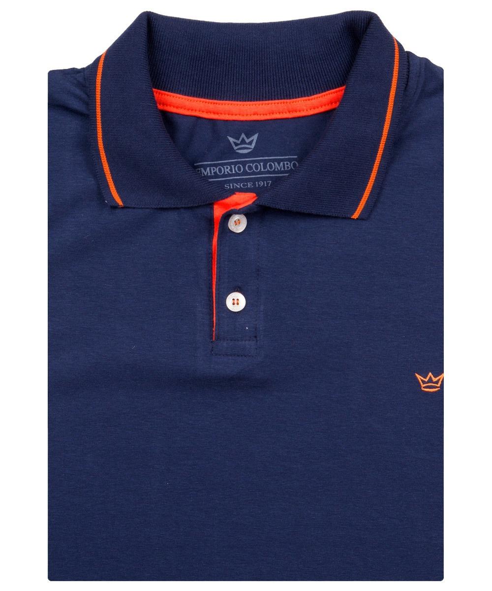 038e37480f camisa polo masculina azul lisa com detalhe colombo. Carregando zoom.