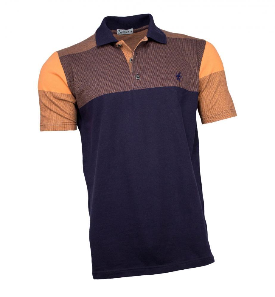 camisa polo masculina azul marinho laranja. Carregando zoom. 6729679a449af