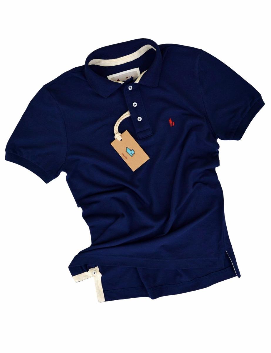 6d58d32605 camisa polo masculina azul marinho sheepfyeld original. Carregando zoom.