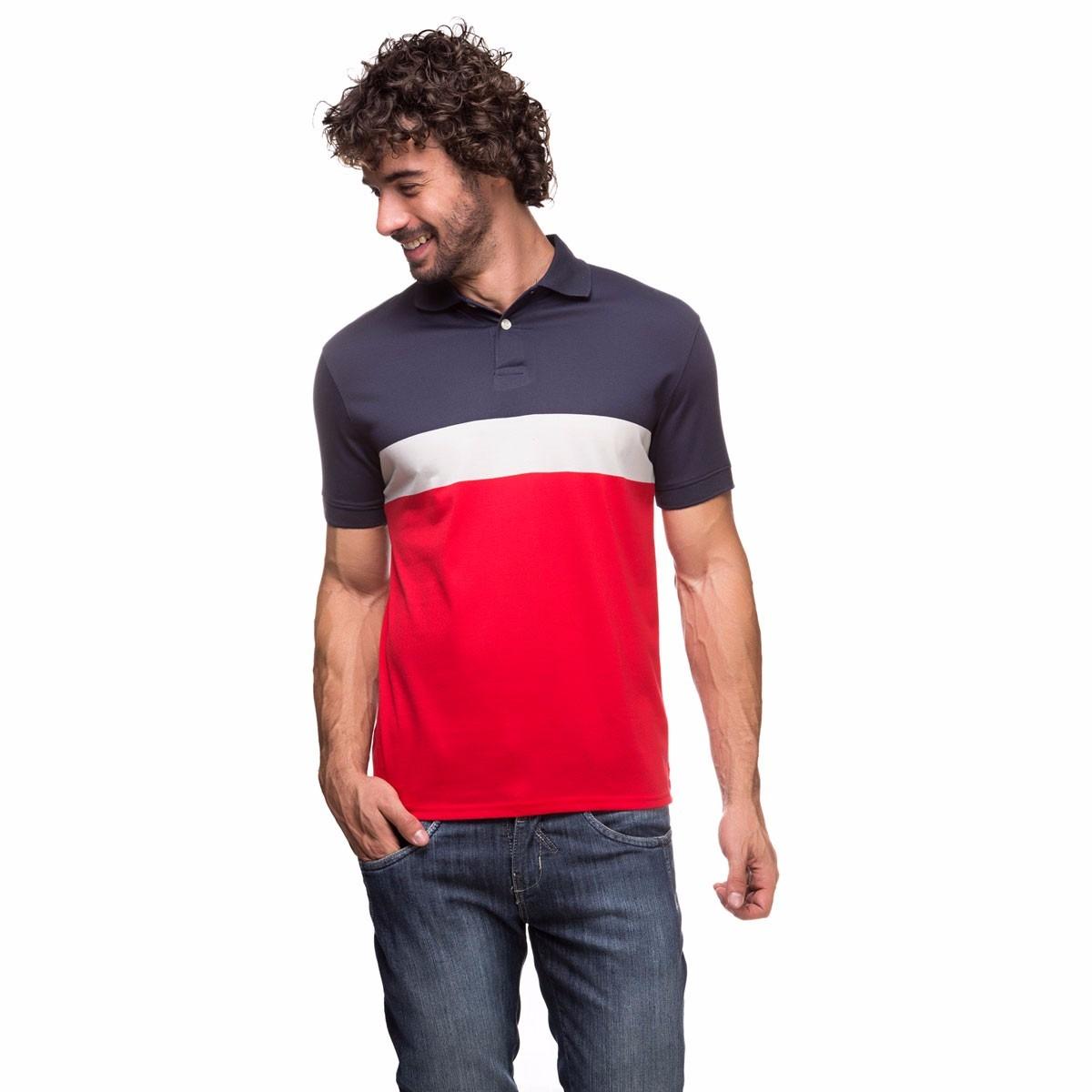 Camisa Polo Masculina Azul 277c70106a369