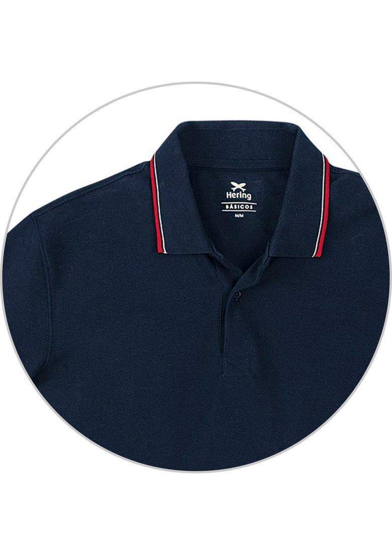 camisa polo masculina básica regular em algodão hering 3m11. Carregando zoom . 14bdb606588d0