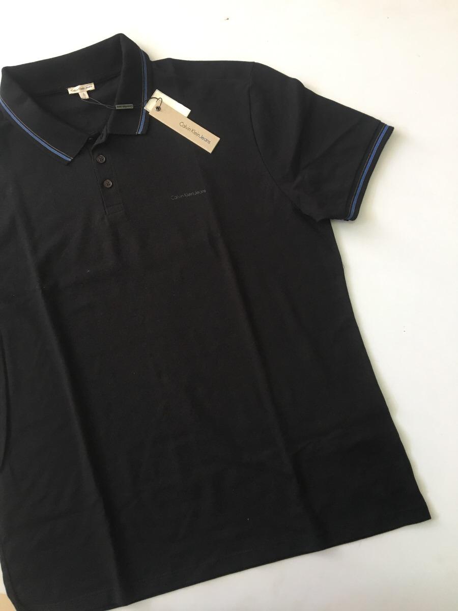 ebb2e4de4d camisa polo masculina calvin klein jeans original preta. Carregando zoom.