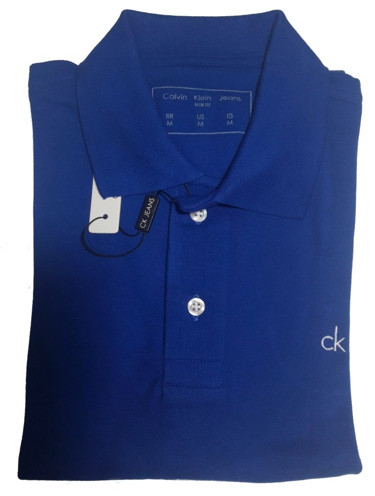 ce3f29e467dd0 camisa polo masculina calvin klein slim fit algodão. Carregando zoom.