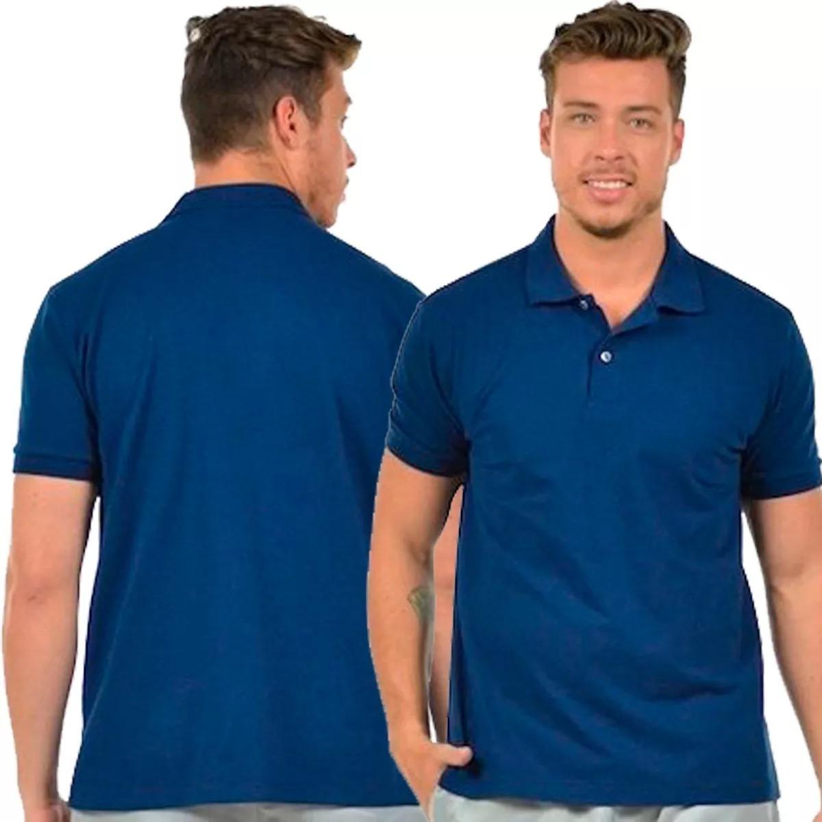 camisa polo masculina camiseta gola atacado uniforme bordar. Carregando  zoom. 1eb3e131ada