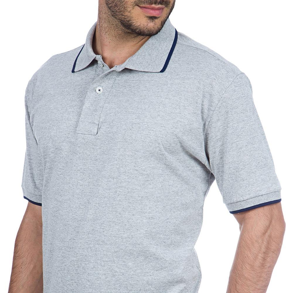 63b10d6f56 camisa polo masculina cinza lisa colombo. Carregando zoom.
