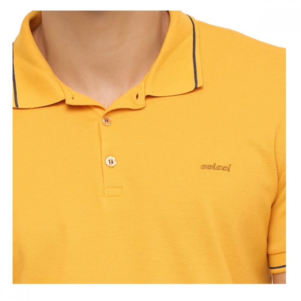 2175ca9c1 Camisa Polo Masculina Colcci Amarela - R$ 89,00 em Mercado Livre