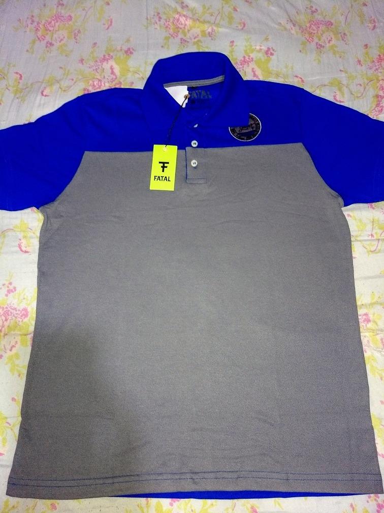 ... fa3f12a008b Camisa Polo Masculina Fatal Piquet Bordada - R 44 6ba1445c22152