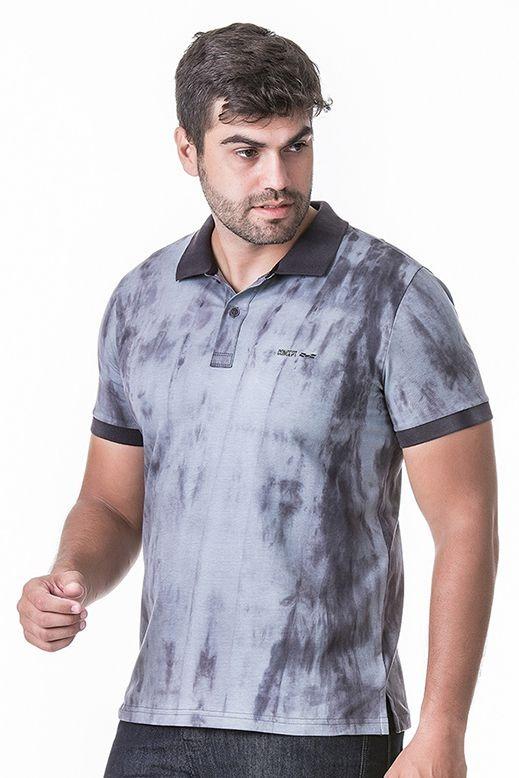 640f3383da Camisa Polo Masculina Hifen Azul Com Lavagem Tie Dye - R  148