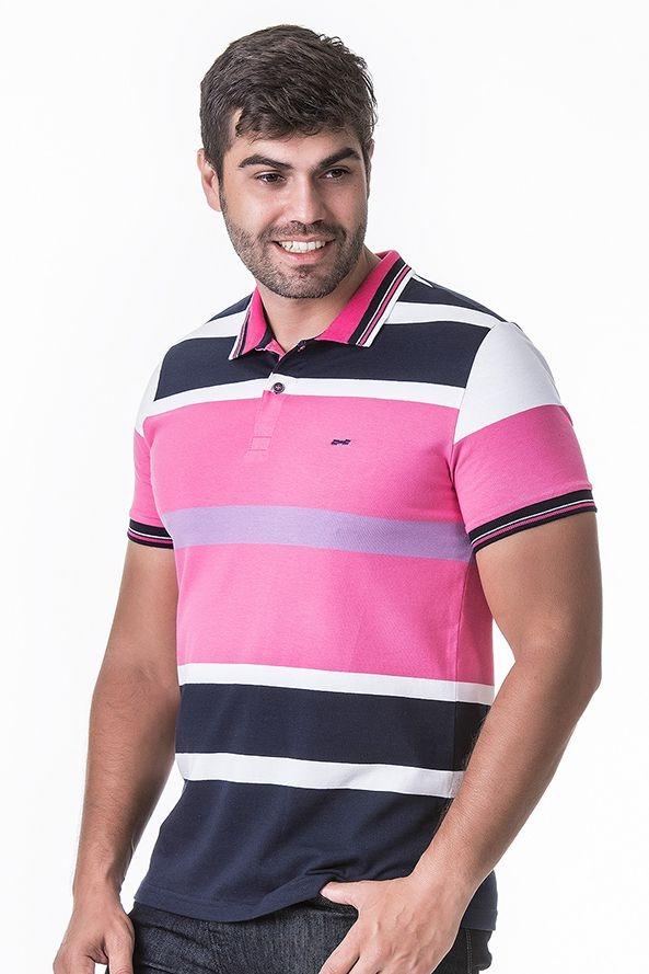 7838cea97583c Camisa Polo Masculina Hifen Listrada Em Fio Tinto - R$ 118,60 em ...