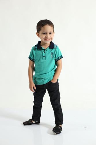 camisa polo masculina infantil