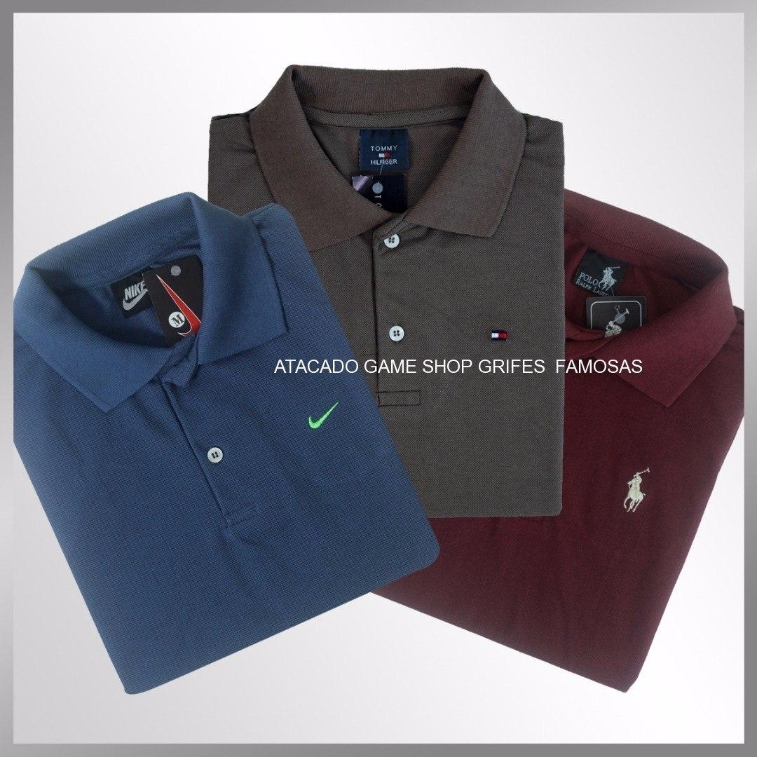 d3846e57a4 Camisa Polo Masculina Kit 5 Camiseta Polo