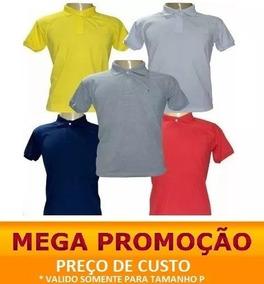 47a72753865 Camisa Polo Masculina Lindas Barato 5 Peças Promoção Verão