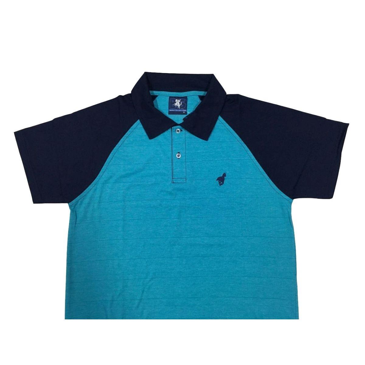 0f1399378 camisa polo masculina lisa - gola malha e manga raglan - sem. Carregando  zoom.
