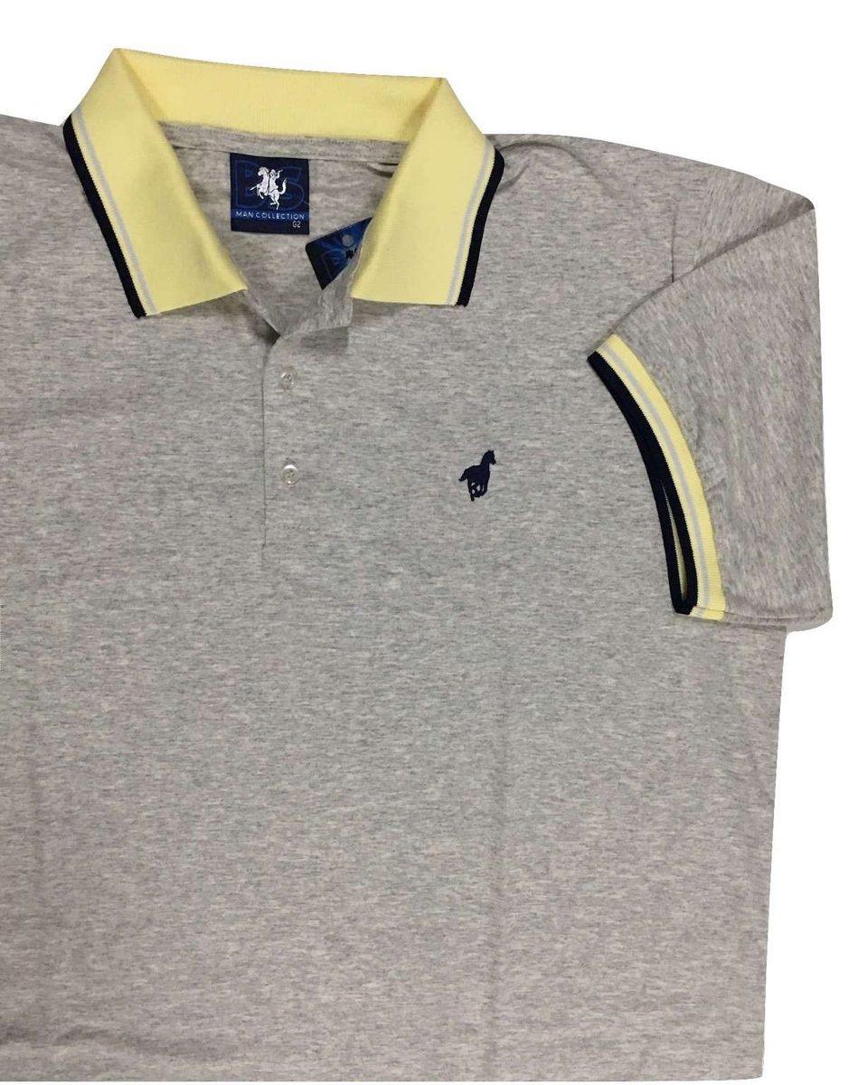 b6349f4f0b Camisa Polo Masculina Listrada Com E Sem Bolso Plus Size 545 - R  49 ...
