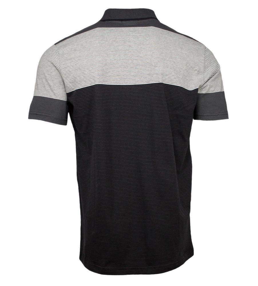 camisa polo masculina listrada preta. Carregando zoom. cc2f909a7a890