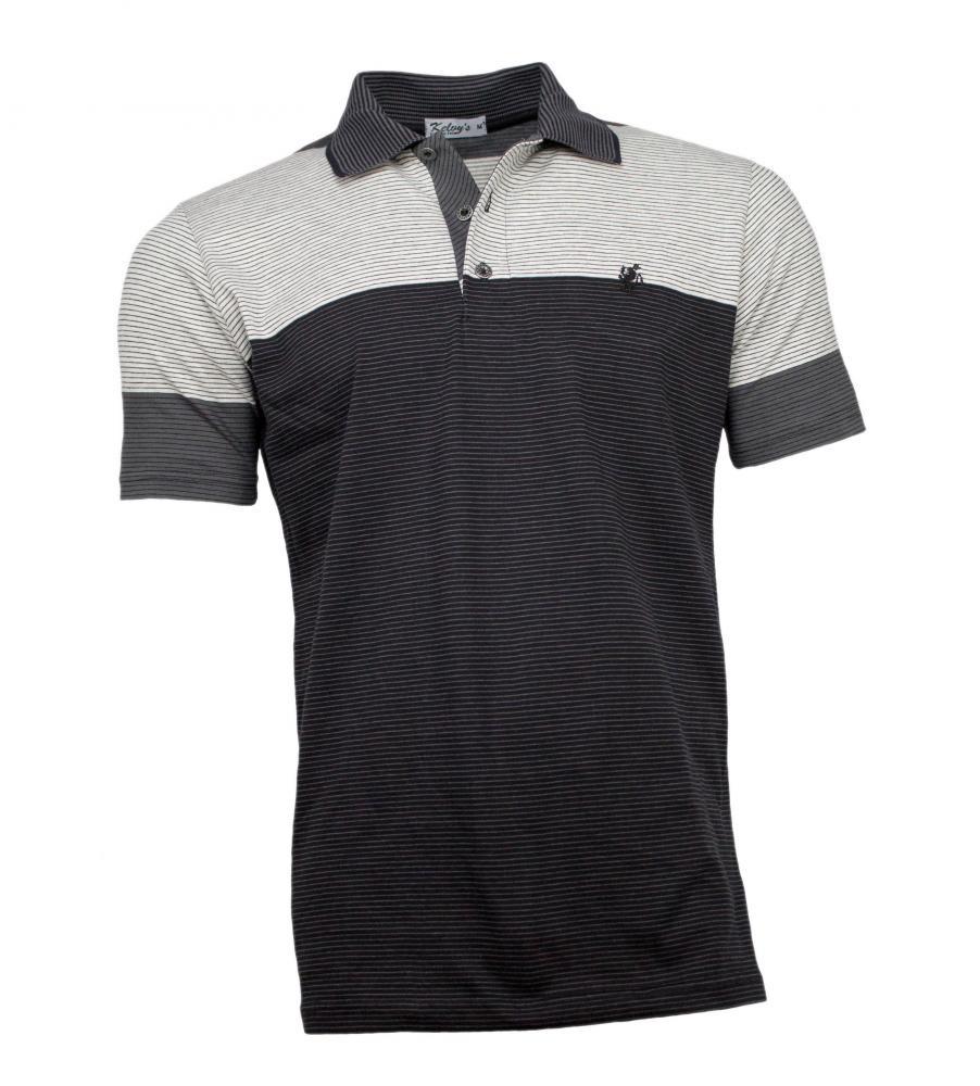 6e903b7b5 camisa polo masculina listrada preta. Carregando zoom.