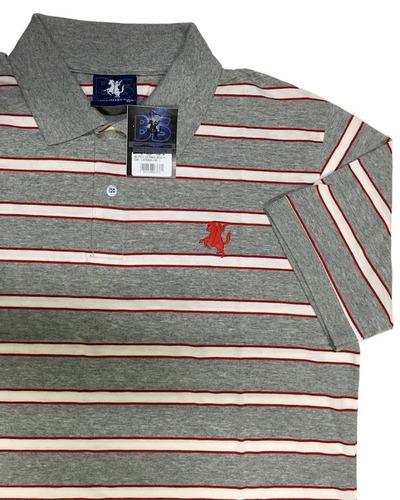 camisa polo masculina listrada sem bolso bs collection ref b