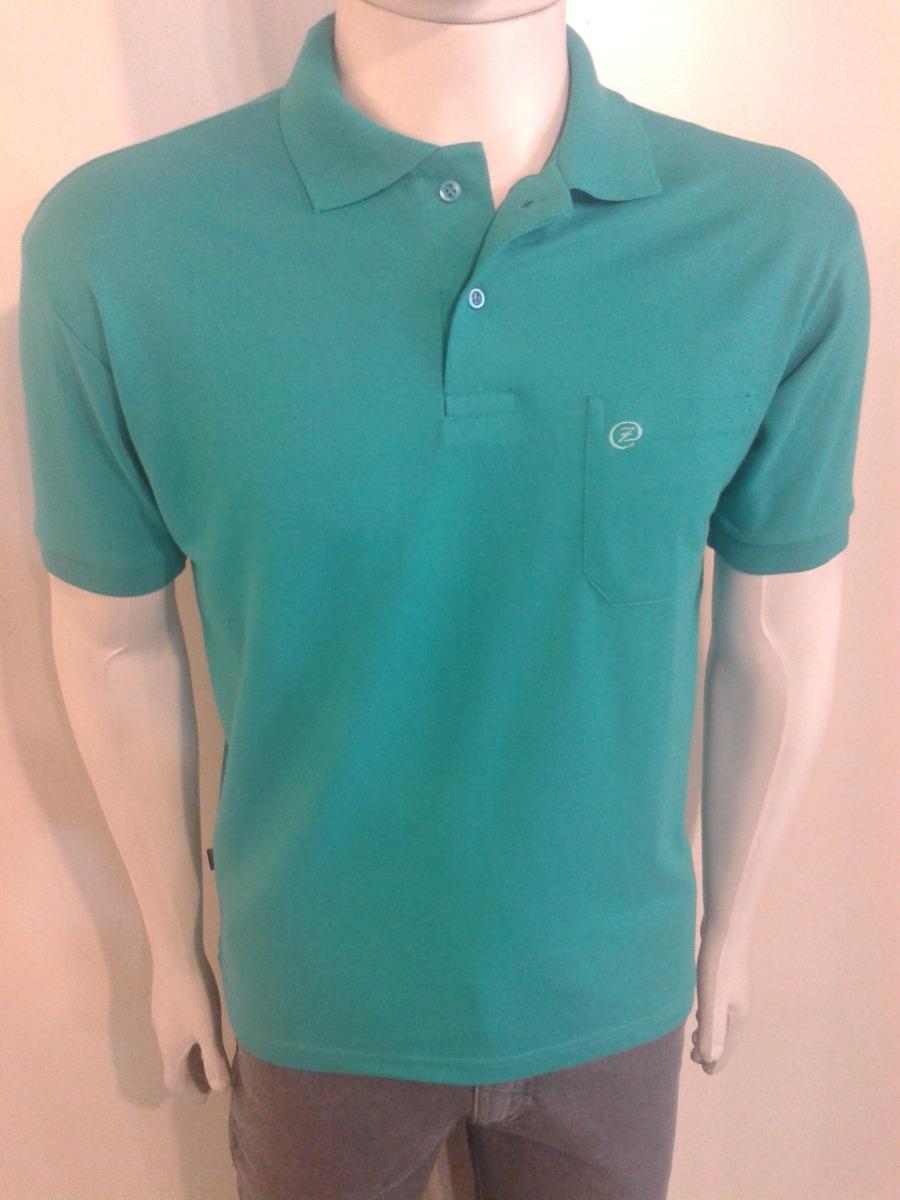 camisa polo masculina malha piquet lisa bolso premium zuart. Carregando  zoom. a27d098d522d2
