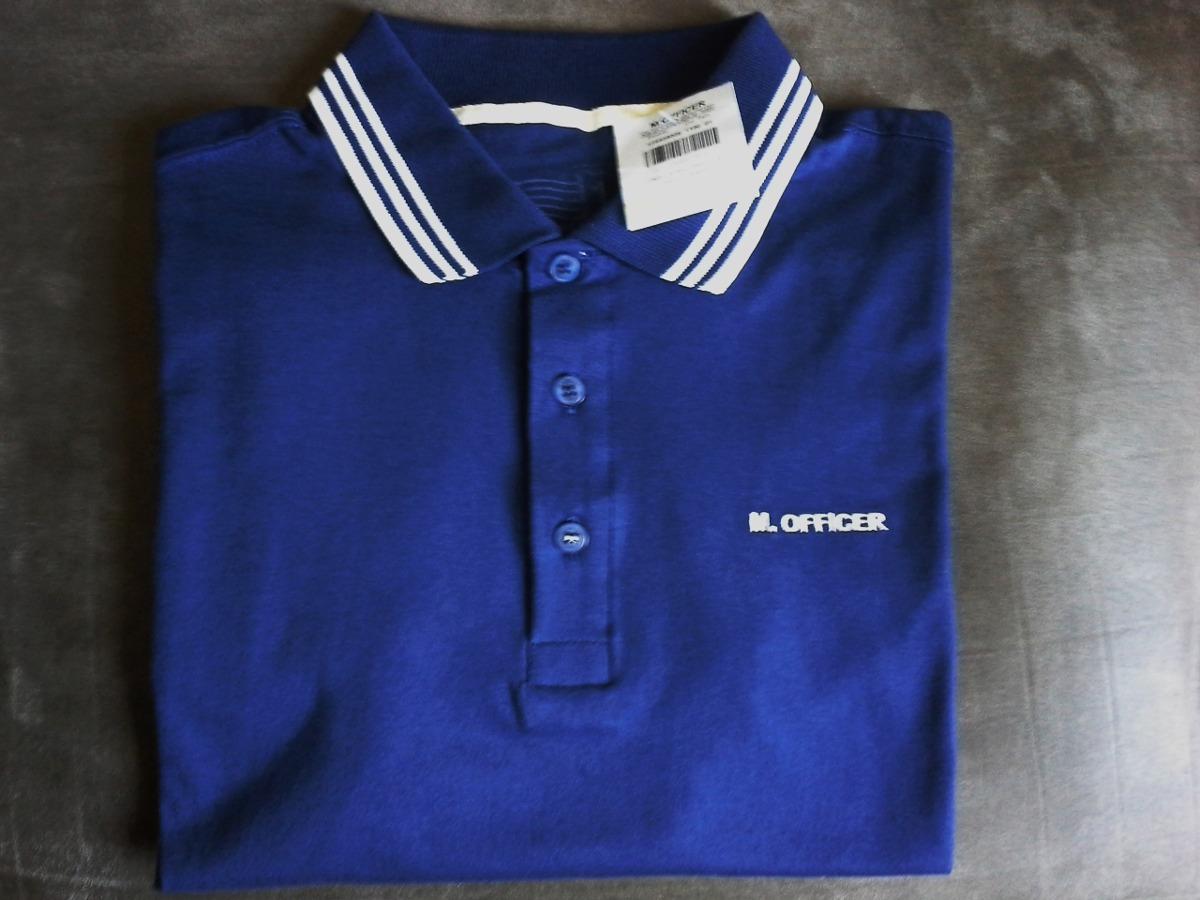 26dc40ffa0 camisa polo masculina marca famosa m.officer azul tm p. Carregando zoom.