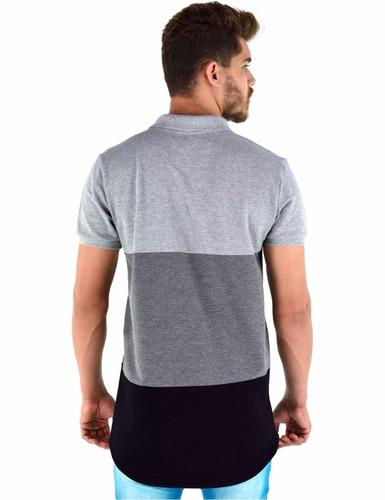 8026688bb68dd Camisa Polo Masculina Modelagem Longline - R  169