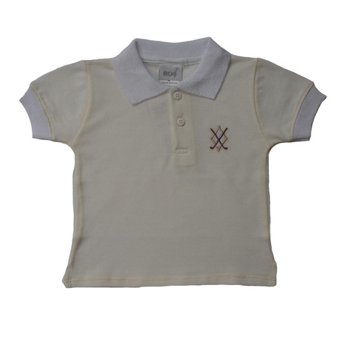 camisa polo masculina off white