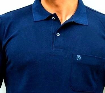 96f17f66f Camisa Polo Masculina Original Piquet Com Bolso Azul - R  39