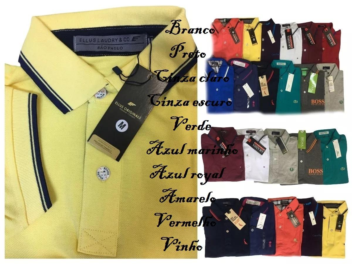 cec3ae59a9 Camisa Polo Masculina Peruana G1 G2 Melhor Preço - R  88
