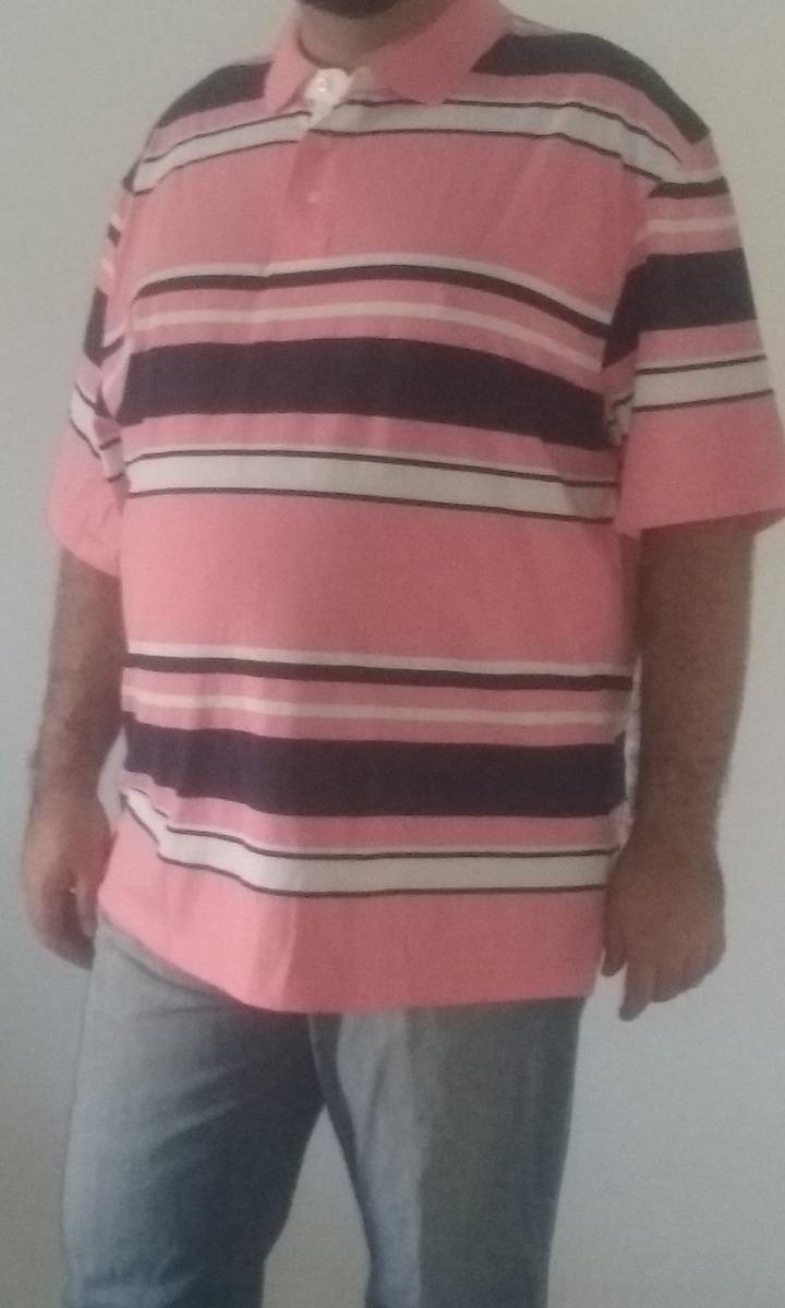 315b029448 camisa polo masculina plus size listrada tamanho g6. Carregando zoom.