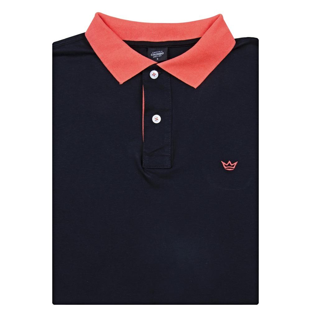 dd6777f6c5 camisa polo masculina preta lisa colombo. Carregando zoom.
