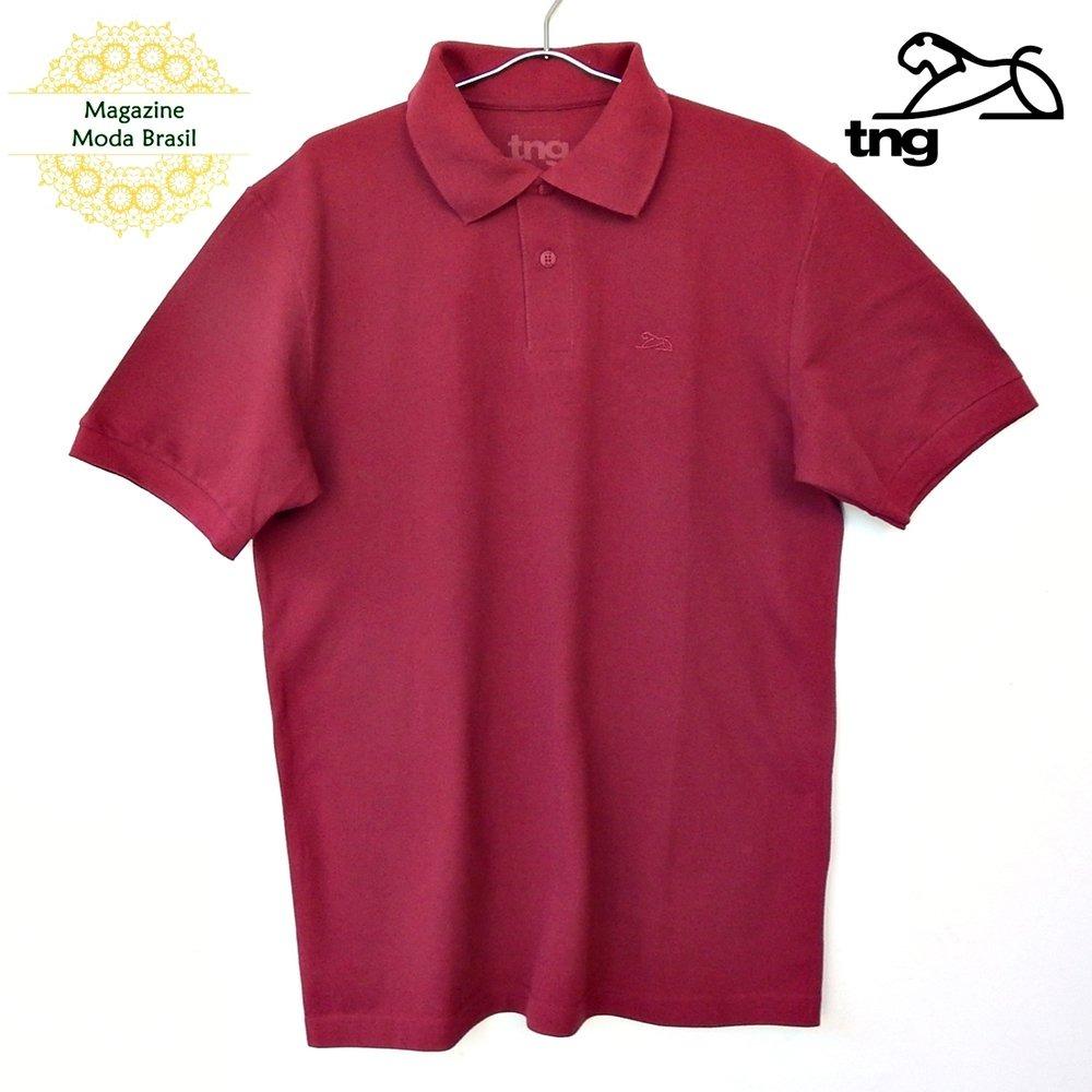 a9c888a32585c camisa polo masculina tng básica piquet bordô. Carregando zoom.