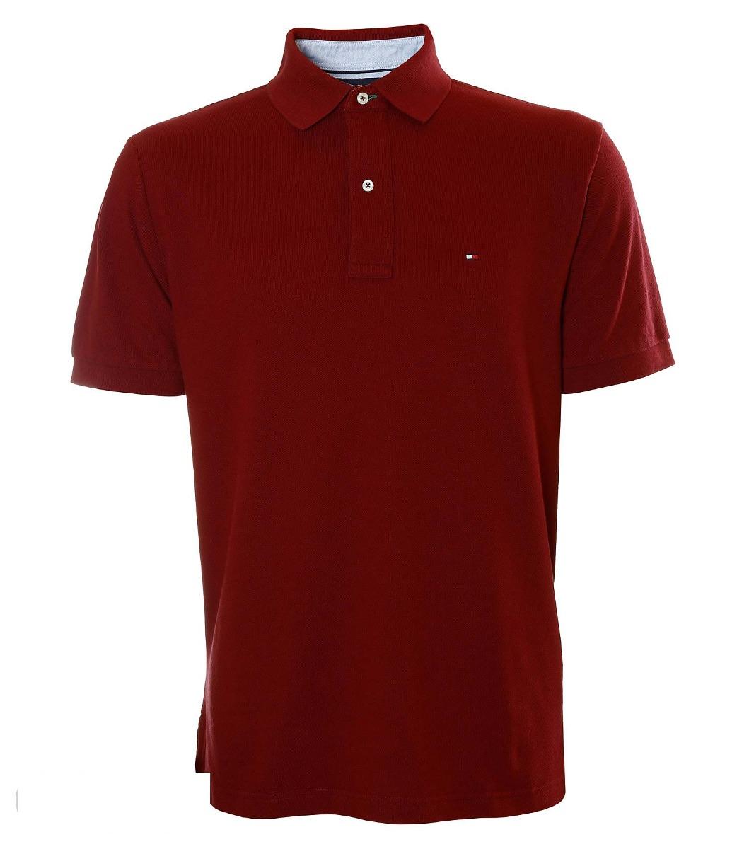 40a0c388b Camisa Polo Masculina Tommy Hilfiger Bordeaux Solid - R$ 259,90 em ...
