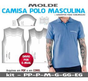 e35c74ded17a Camisa Polo Masculinas Moldes + Apostila Corte E Costura
