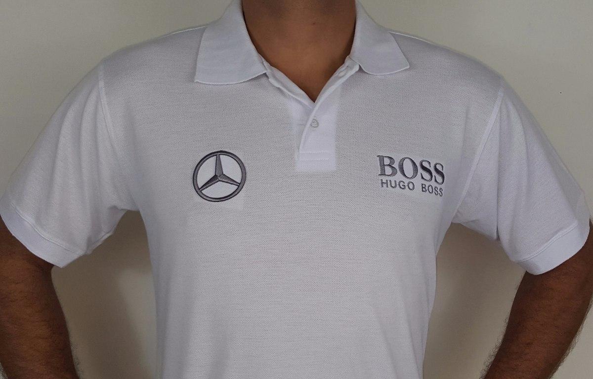 aac37ae5e camisa polo mercedes benz hugo boss - branca - bordada. Carregando zoom.