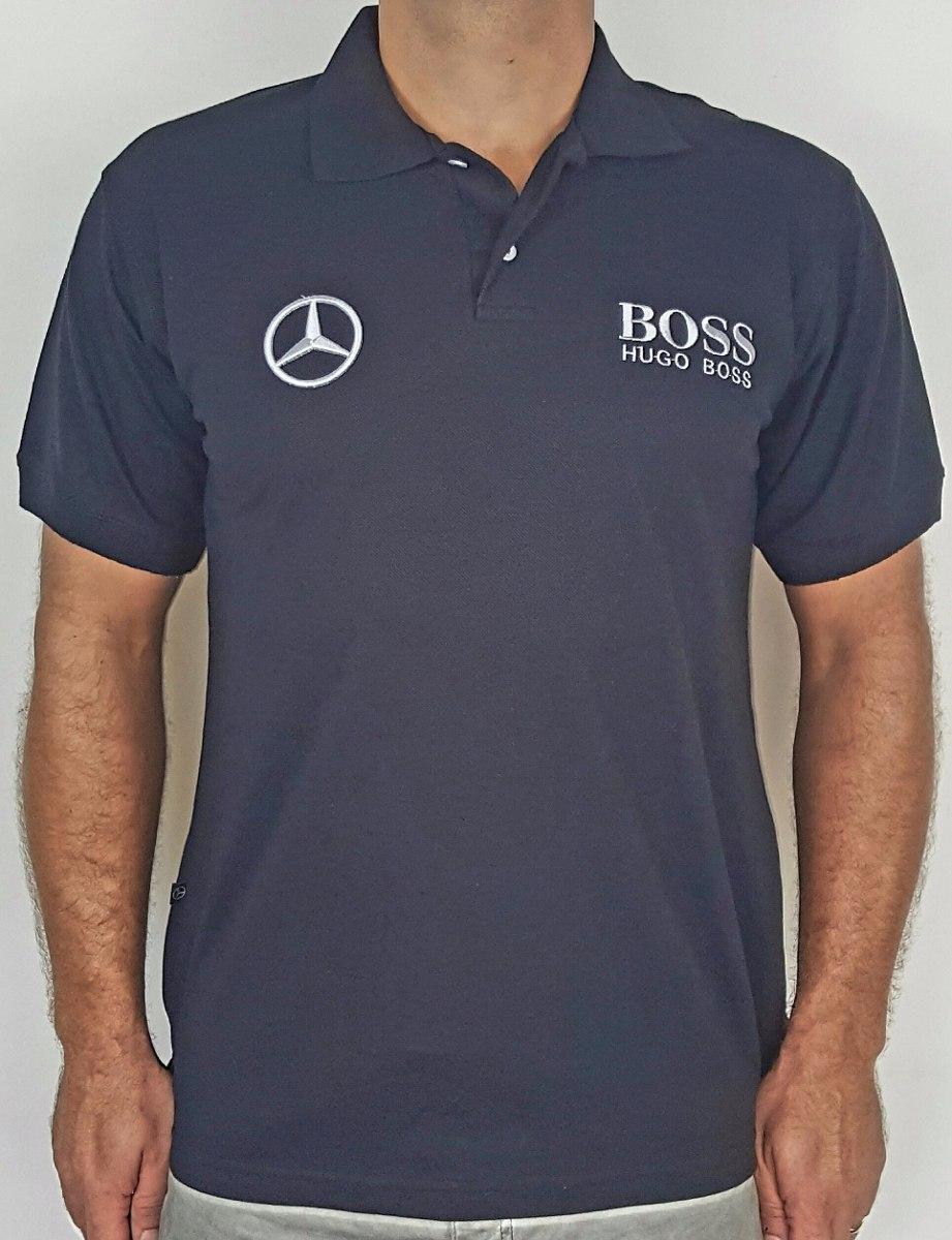 b538e3a13 camisa polo mercedes benz hugo boss - preto - bordada. Carregando zoom.