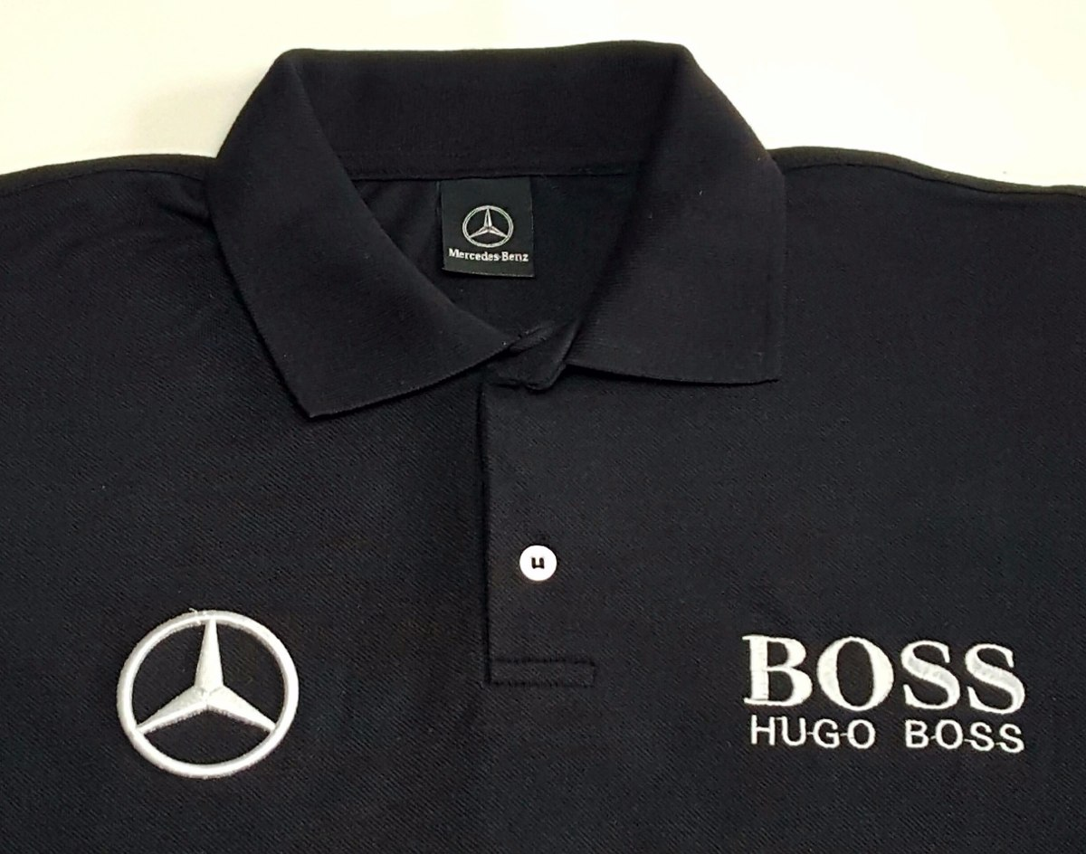 camisa polo mercedes benz hugo boss preto bordada r 34 90 em mercado livre. Black Bedroom Furniture Sets. Home Design Ideas