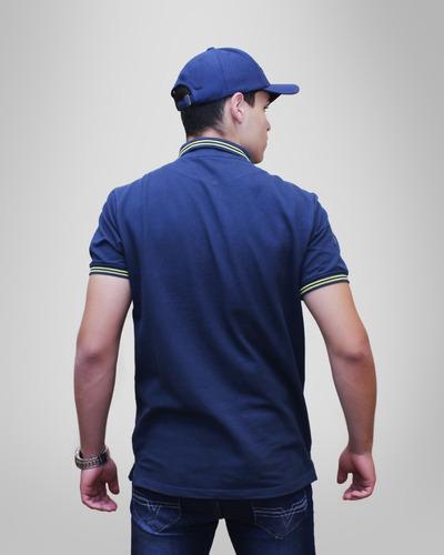 camisa pólo moto honda - azul - coleção asa vintage - produto oficial