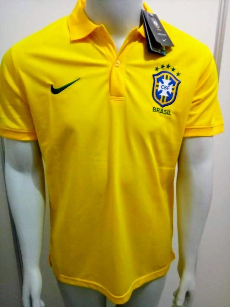 camisa polo nike brasil amarela oficial. Carregando zoom. 69cc840bc800b